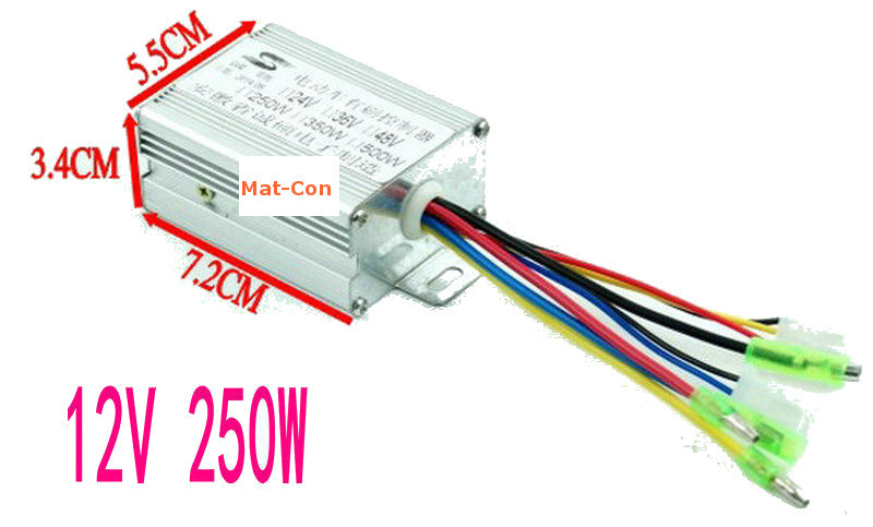 HY 12V 250W PWM Motor Controller