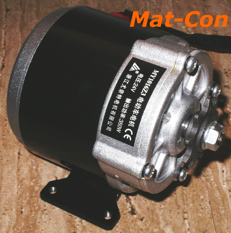 geared motor my1016z3 350W 24V 36V