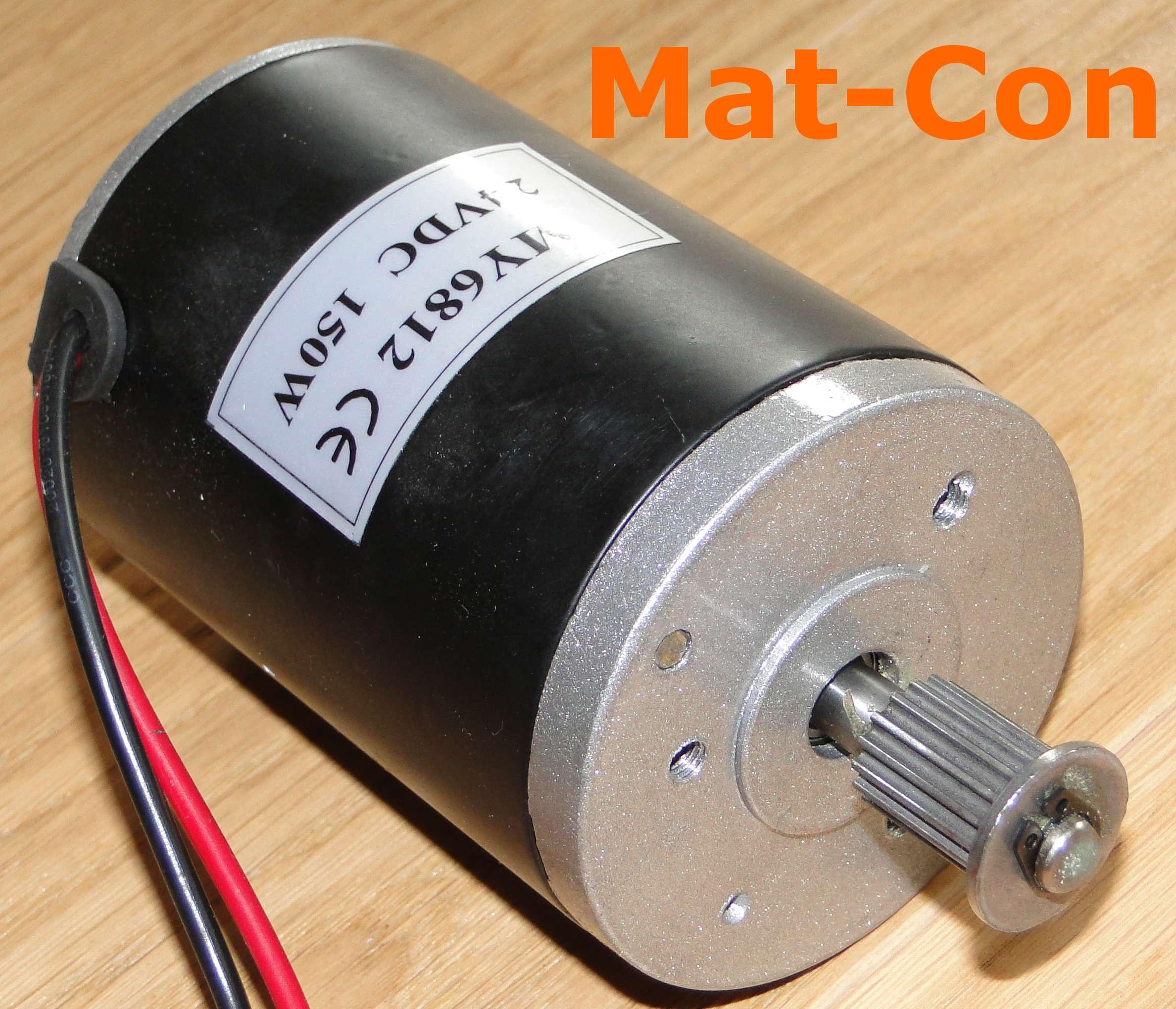 E motor unite my6812gr 150w 24v dc 0 56nm belt pulley for 1 4 hp dc motor