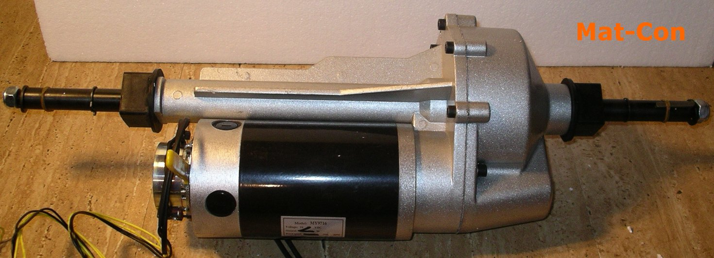 Differenzialgetriebe- Elektromotor DC 800W 24V 29,5/40Nm