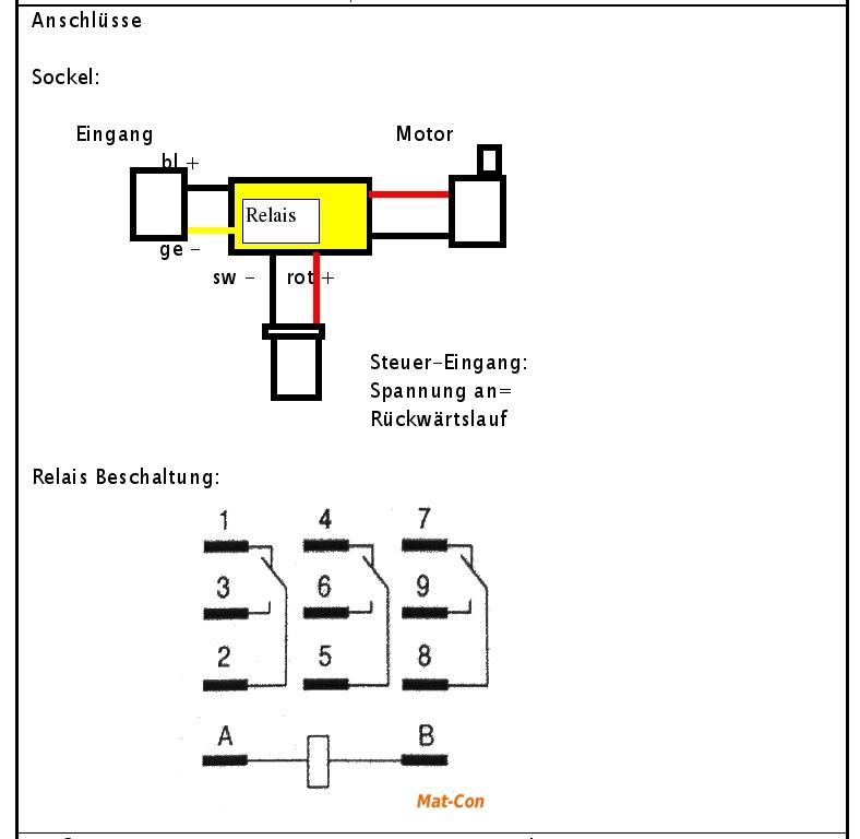 e motor wenderelais umpol relais 3polig 12 24 36 48v dc. Black Bedroom Furniture Sets. Home Design Ideas